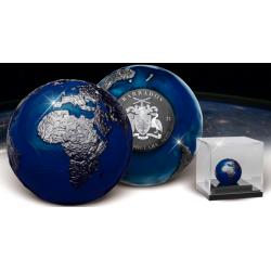 BLUE MARBLE AT NIGHT PLANET EARTH 3 OZ 5 DOLARÓW BARBADOS 2021
