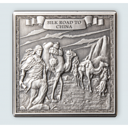 JOURNEY OF MARCO POLO SOLID KILO CUBE SILVER COIN 10 POUNDS GIBRALTAR 2021