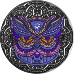 OWL MANDALA COLLECTION 2 OZ SILVER COIN 5 DOLLARS NIUE 2020