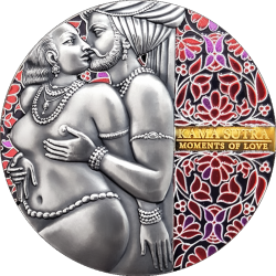 KAMASUTRA II MOMENTS OF LOVE 3 OZ SREBRNA MONETA 3000 FRANKÓW CFA KAMERUN 2020