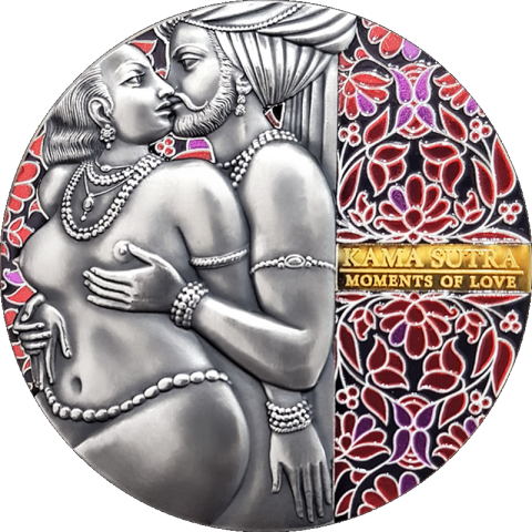 KAMA SUTRA II MOMENTS OF LOVE 3 OZ SILVER COIN 3000 FRANCS CFA CAMEROON 2020