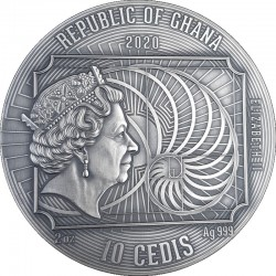 WORLD'S GREATEST ARTISTS GUSTAV KLIMT 2 OZ SILVER COIN 10 CEDIS REPUBLIC OF GHANA 2020