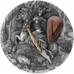WOMAN WARRIOR VALKYRIE NIUE 2020 2 OZ SILVER COIN