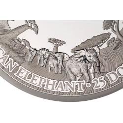 MASTERSIZE ELEPHANT 1 KG 25 DOLLARS SAMOA 2019