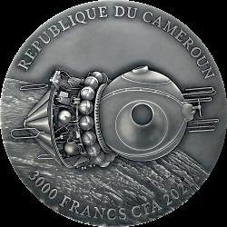 VOSTOK-1 1961 YURI GAGARIN CAMEROON 2021 3 OZ 3000 FRANCS